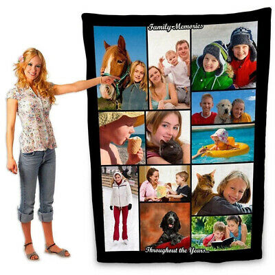 £19.92 • Buy Photo Blanket Using My Own Photos Collage Personalized Customized For Adult Baby