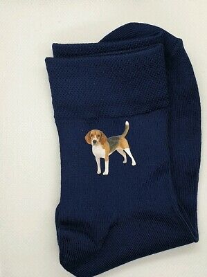 Gift Bag Beagle Printed Silky Feel Ladies Socks Present Mum • 5.99£