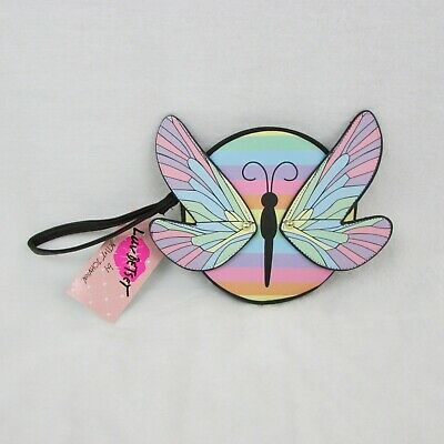 $23.99 • Buy Luv Betsey Johnson Butterfly Coin Purse Multi Color Pink Wings Zip Circle $48