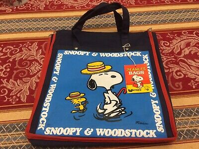 Snoopy Woodstock Small Tote Bag Peanuts Butterfly Original 1965 Unused With Tag. • 29.99£