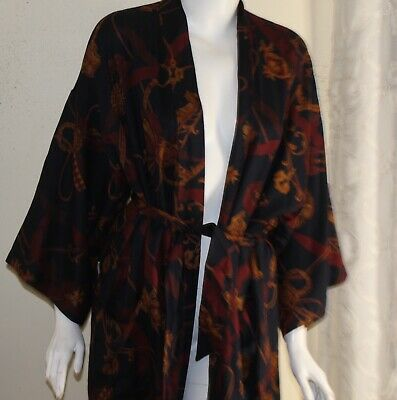 $145 • Buy Private Stock Bloomingdales Mens Challis OSFA S M L XL Dressing Robe Gown