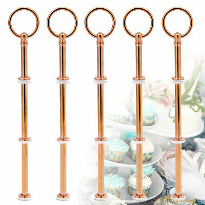 5 Sets Cake Stand Fittings Kits 2/3 Tier Cupcake Plate Rack Fittings Handle Rod • 9.09£