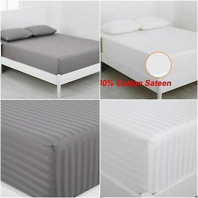 Deep Fitted Sheet Egyptian Cotton 600 Thread Count Bed Sheets Double Super King  • 16.79£