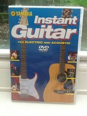 YAMAHA INSTANT GUITAR Tuition DVD For Learning Electric & Acoustic Guitar • 2.25£