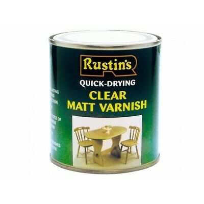 Rustins Quick Dry Varnish CLEAR Gloss / Matt / Satin Paint- ALL TYPES SIZES • 10.28£
