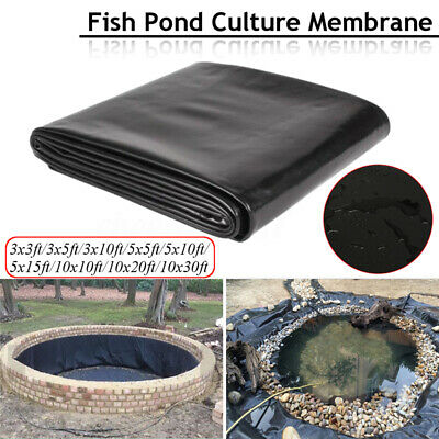 10X10ft  HDPE Composite Geomembrane Pool Landscaping Fish Pond Liner Membrane • 12.40£