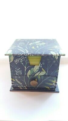 Christmas Gift Luxury Floral Box Organsier+ Lime Green Paper Pad, Storage Drawer • 4£