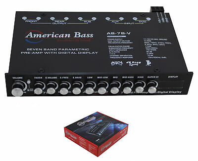 $ CDN87.42 • Buy 7 Band Digital Equalizer W/ Built-in 7V Line Driver + Digital Voltmeter AB 7BV