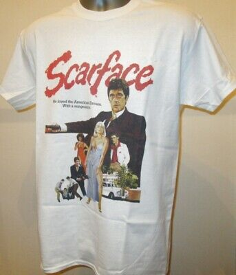 Scarface Poster T Shirt 80s Gangster Film Pacino Miami Godfather Goodfellas V240 • 11.95£