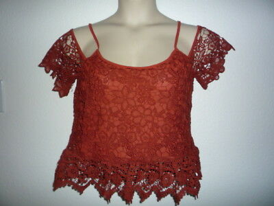 $6.95 • Buy Nwt Sans Souci Ladies Rust Colored Summer Top  Size Large