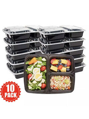 Meal Prep Food Containers Microwavable BPA Free Plastic Reusable Lunch Box • 9.99£