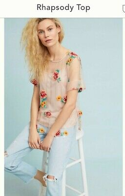 $ CDN39.77 • Buy Anthropologie Eva Franco Rhapsody Top NWT Size Medium