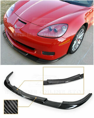 $269.99 • Buy EOS ZR1 Style Hydro Carbon Front Lip Splitter Bumper For Corvette 05-2013 C6 Z06