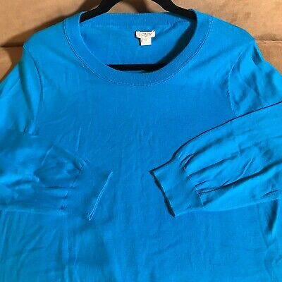 $9.45 • Buy J Crew Women's Top Turquoise Blue Lighter Wt Knit Shirt Size XL