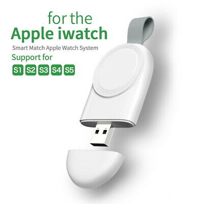 $ CDN9.58 • Buy For Apple Watch Series 5/4/3/2/1 IWatch Portable USB Wireless Charger Keychain