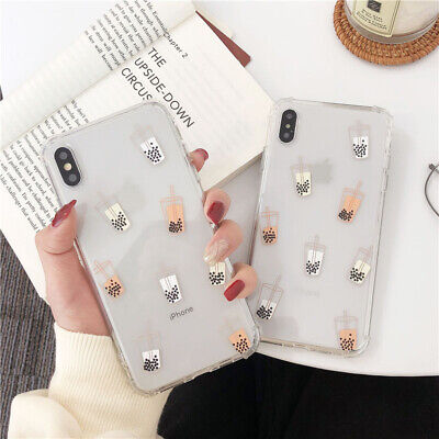 AU9.95 • Buy Cute Shockproof Milk Bubble Tea Phone Case For IPhone XS Max XR X 7 8 Plus 11 12