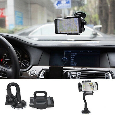 Suction Mount Universal In Car Mobile Phone Sat Nav PDA GPS Holder With Locking • 4.59£