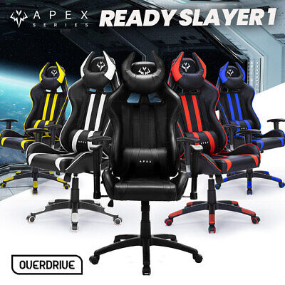 AU279 • Buy OVERDRIVE Diablo Reclining Gaming Chair Computer Seat Office Neck & Lumbar Horns