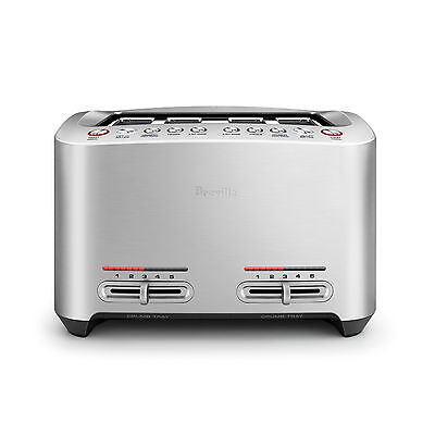 AU197 • Buy Breville BTA845BSS The Smart Toast 4 Slice Extra Wide Slot Toaster - RRP $219.95