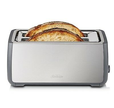 AU89 • Buy Sunbeam TA4540 Long Slot Toaster 4 Slice With QuickCheck™ & Extra Long Slots