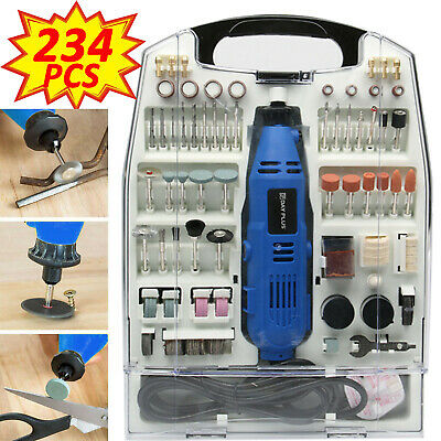 234pc Rotary Multi Tool Set Dremel Compatible Accessories Mini Drill Hobby • 31.49£