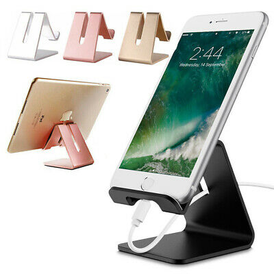 $4.99 • Buy Universal Cell Phone Tablet Desktop Stand Desk Holder Mount Cradle Aluminium US