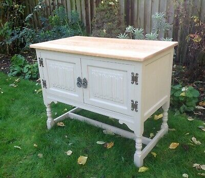 Beautiful Vintage Oak Cabinet Painted Annie Sloan Shabby Chic • 145£