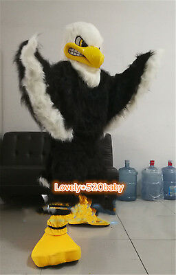 Cosplay Eagle Mascot Costume Animal Suit Long Fur Fancy Adult Party Dress Outfit • 232.43£