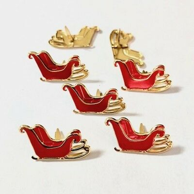 $2.25 • Buy Sleigh   Brads *  Eyelet Outlet  8 Pc  New In Stock Santa Sleigh