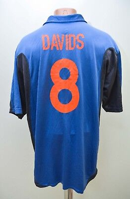 Holland Netherlands 2000/2001 Away Football Shirt Nike #8 Davids Size Xl • 74.99£