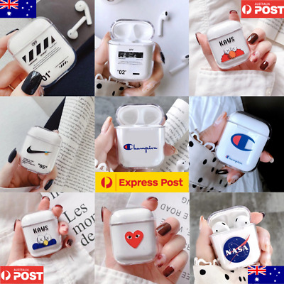 AU10.99 • Buy Airpods Case Protective Plastic Clear Slim Cover For IPhone AirPod Earphones AU