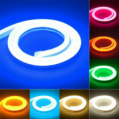 $7.75 • Buy 12V 2835 SMD Flexible LED Strip Waterproof Sign Neon Lights Silicone Tube 5m 3m