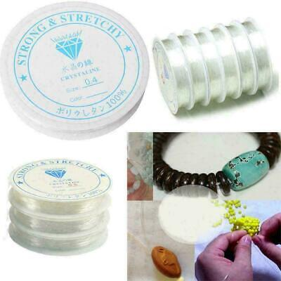 £2.89 • Buy Elastic Stretchy Beading Thread Cord Bracelet String For Jewelry Making 0.4- 1.0