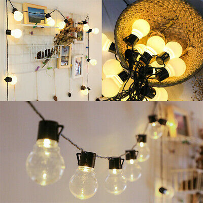 20 Edison Bulb Battery Operated LED Festoon Fairy Globe String Lights Lamp EE • 8.99£