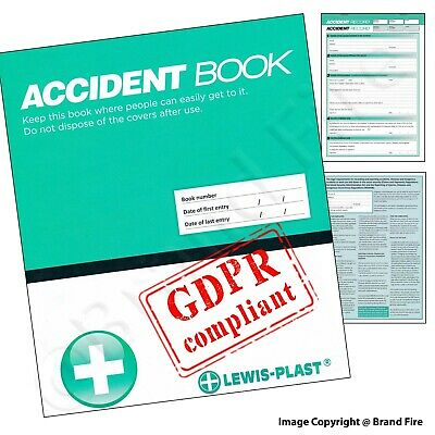 £3.29 • Buy GDPR Compliant Accident Book - First Aid A4 50 Page Report Form - RIDDOR HSE