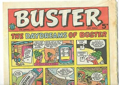 Buster  Comic ~ 27th January 1962 ~ Whacko! Charlie Drake Etc..~ Excellent • 3£