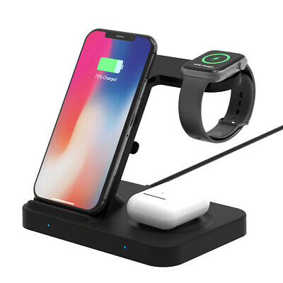 $ CDN26.06 • Buy 5In1 Qi Wireless Charger For IWatch 5/4/3/2/1 AirPod Galaxy Watch IPhone 11 XS