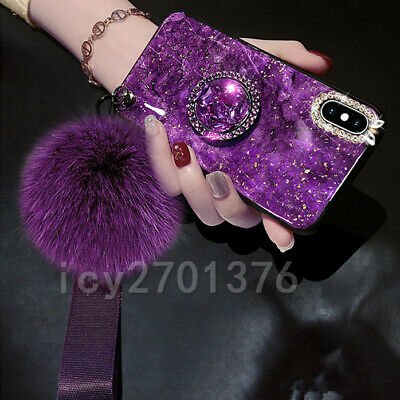 AU13.98 • Buy 3D Nice Bling Marble Ring Holder KickStand Soft Phone Back Cover Case For OPPO