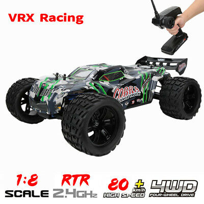 VRX Racing 1:8 Scale 4WD RC Car 80km/h High Speed Electric Off-road Vehicle RTR • 315.60£