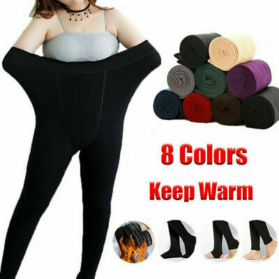 Ladies Winter Warm Fleece Lined Thick Thermal Full Foot Tights Pants Autumn UK • 3.05£
