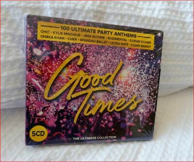 5xCD New  Good Times  Boxset Fast Freepost  100 Hits Ultimate Party Anthems  • 7.37£