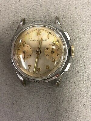 $ CDN525.83 • Buy Rare ORIGINAL VINTAGE BAUME & MERCIER CHRONOGRAPH WATCH SERVICED LANDERON