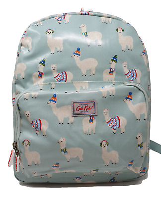 Cath Kidston Backpack Rucksack Alpacas Large Kids In Pale Green Oilcloth • 19.99£