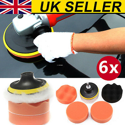 6X3 Inch Polishing Sponge Heads Car Buffing Valeting Soft Mop Pads Thread • 4.59£