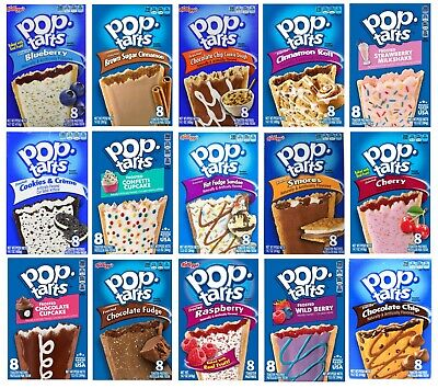 Kelloggs Pop Tarts, American Import, 8 Flavours Available, 6/8 Toaster Pastries • 6.99£