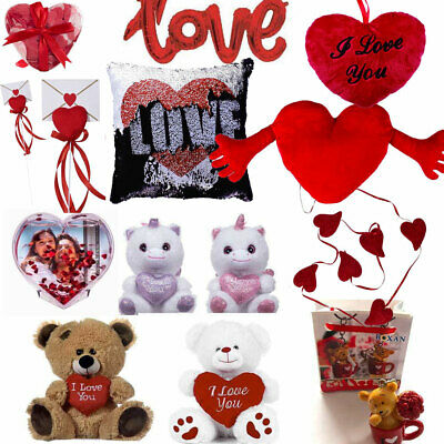 VALENTINES DAY ROMANTIC GIFTS Him & Her Love Heart Cute Bears Valentine Gift UK • 2.99£