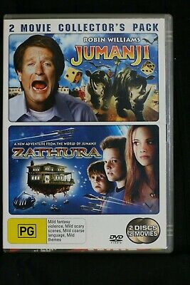 AU14.99 • Buy Jumanji (1995 Robin Williams) / Zathura - A Space Adventur- R4 - Pre-owned (D126