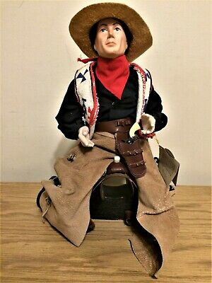 $69.99 • Buy Very Rare Vintage Norman Rockwell Porcelain Cowboy Doll Signature Collection