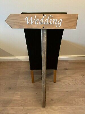 Wedding Arrow Sign, Wooden Stake, Rustic, Points Left, 1 Metre High • 24.99£
