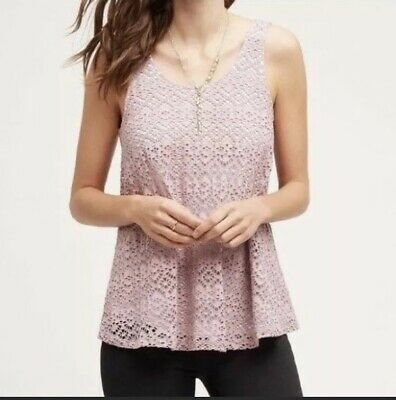 $ CDN33.80 • Buy Anthropologie Deletta Medium Germaine Swing Top Blouse Tank Lace